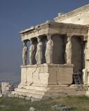 Caryatids women statues, erehtheion temple, Athens Greece poster
