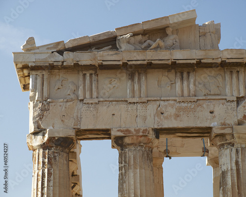 Parthenon detail, Acropolis of Athens, Greece