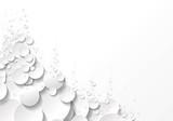 Fototapeta fond bulles blanc