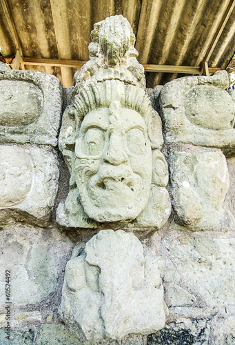 Ancient Maya Statue at Copan, Honduras