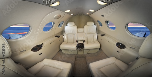 Foto op Plexiglas Vliegtuig Interior of an executive plane