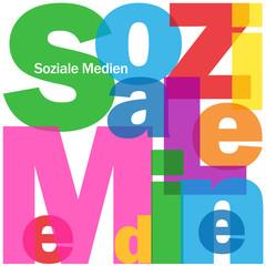 """""""SOZIALE MEDIEN"""" Wortwolke (technologie netzwerk social media)"""