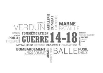 Nuage de mots - commémoration guerre 1914 - 1918