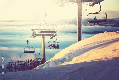 Fotobehang Wintersporten Ski resort