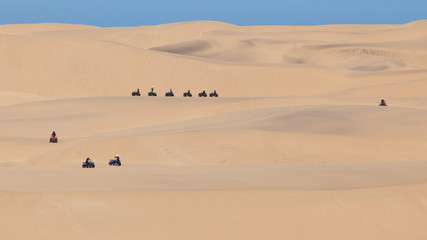 Quad tour in the desert in the Namib desert