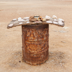 Selling salt at the Atlantic coast, Namibia