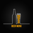 beer bottle glass deign background