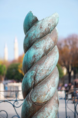 The ancient Snake pillar in the Hippodrome Istanbul