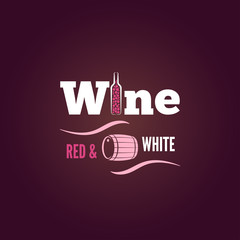 wine bottle red and white design  background
