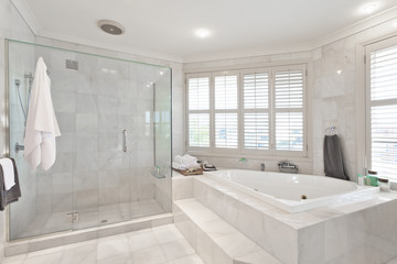 beautiful modern bathroom in australian mansion