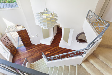 staircase and entrance to modern australian home