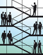 Geschäftsleute auf der Treppe