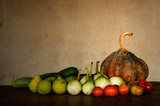 Autumn fresh vegetables