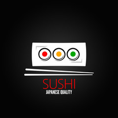 sushi roll plate menu design background