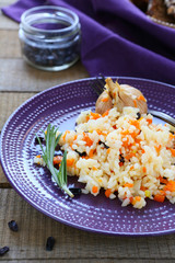 rice with vegetables and barberry