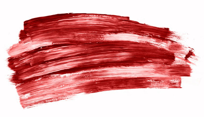 Abstract red brush strokes