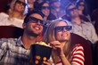 Happy couple in 3D movie - 60528495