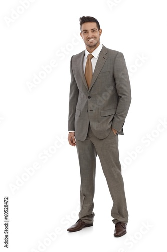 Elegant businessman smiling