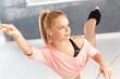 Ballerina exercising