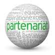 "Globe - Nuage de Tags ""PARTENARIAT"" (projets business affaires)"