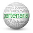 """Globe - Nuage de Tags """"PARTENARIAT"""" (projets business affaires)"""