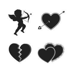 Set of valentine tattoos