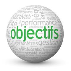 Globe - Nuage de Tags OBJECTIFS (performance management succès)