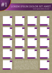 template frames, chart, flyer, sheet, table