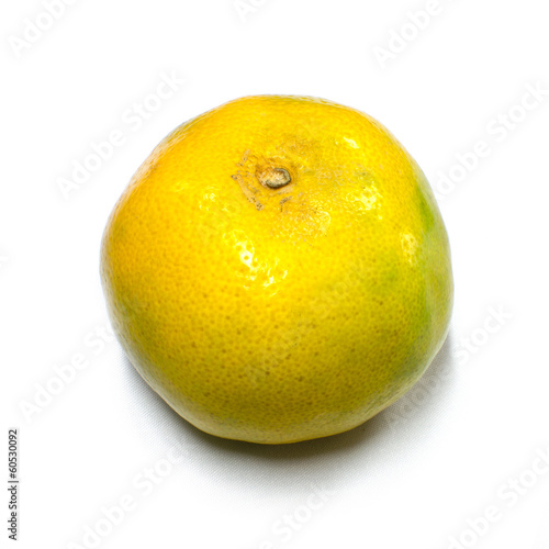 Mandarin tangerine orange isolated on white background