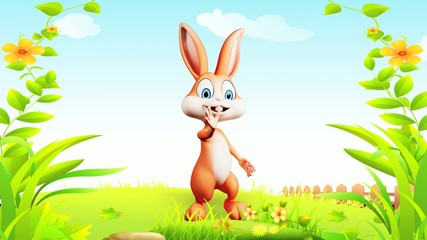 Happy bunny with hi