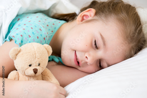 kid girl sleeping