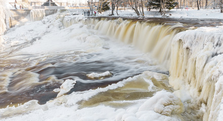 Frozen waterfall in Estonia
