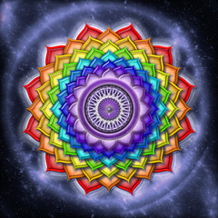 Crown Chakra Rainbow Colors