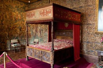 Castle of Chenonceau interior.  Loire Valley.