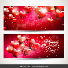 Valentine's Day horizontal banners
