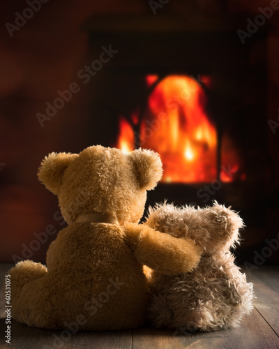 Teddies By The Fire