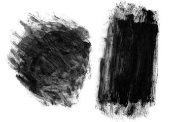Irregular watercolor brush strokes
