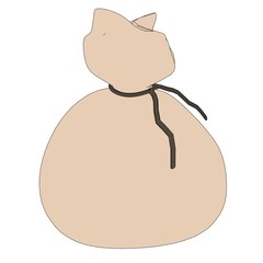 cartoon image of money bag