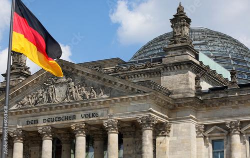 canvas print picture Deutscher Bundestag / Reichstag