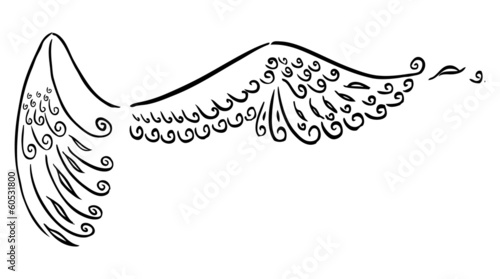 Black Stylized angel wings