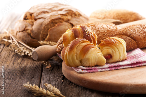 Staande foto Brood fresh rolls and bread