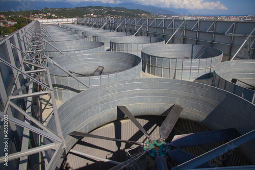 industrial ventilation system, roof of the plant