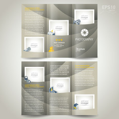 photography brochure design photo camera trifold