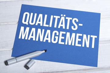 Qualitätsmanagement Schrift