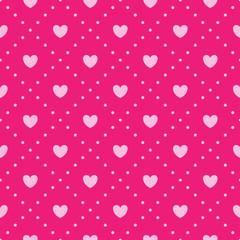 Pink heart pattern.