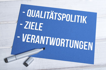 Qualitätsmanagement Text