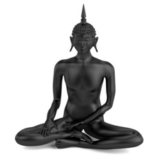 realistic 3d render of buddha