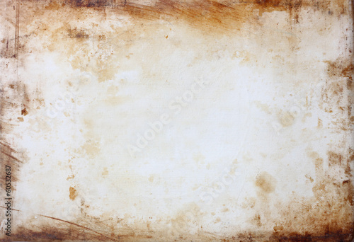 grunge background with stained frame.
