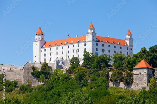 Medieval castle on hill against the sky, Bratislava, Slovakia