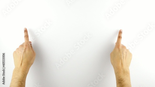Touchscreen Gestures 1 on white wall